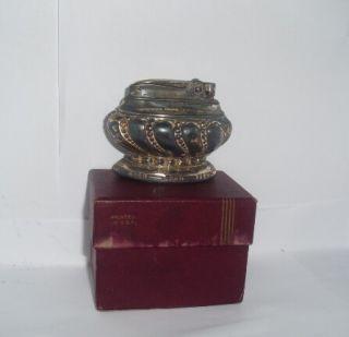 Vintage Ronson Crown Cigarette Table Lighter w Box 2444
