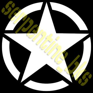 Jeep Star Decal Circle US Army USMC Military Willys 6