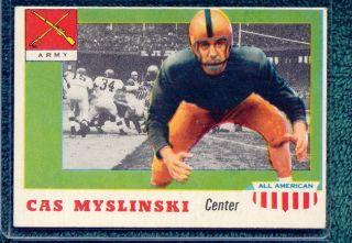 American Football 25 CAS Myslinski EX Army Black Knights Card