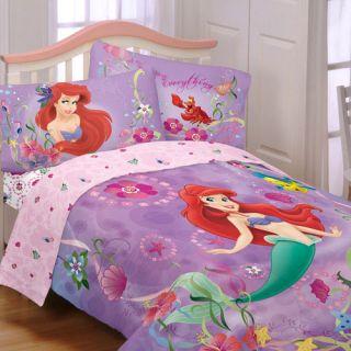 Mermaid Twin Full Comforter Princess Ariel Dance Blanket Decor
