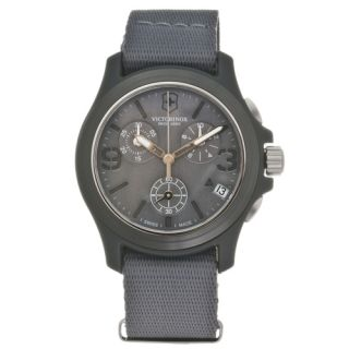 New Swiss Army Mens Original Chronograph NATO Strap Watch 241532