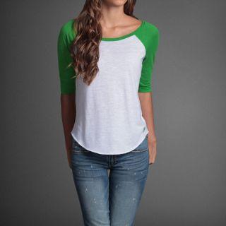 New Abercrombie Fitch Womens Shirt Arielle Long Sleeve Tee Shirt Top L