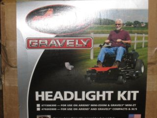 Gravely Ariens Zero Turn Lawn Mower Headlight Kit Free Shipping