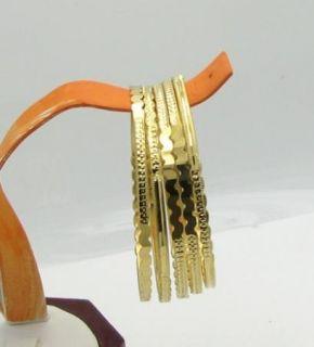 Super Cute 14k Gold Overlay Girls Bangle Bracelet Set for Ages 2 7