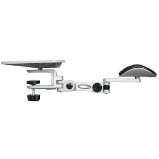 ziotek desk clamp arm rest with mousepad silver zt1090177