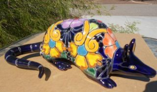 Talavera ARMADILLO Southwest Mexican folk art Hand Painted pottery NEW