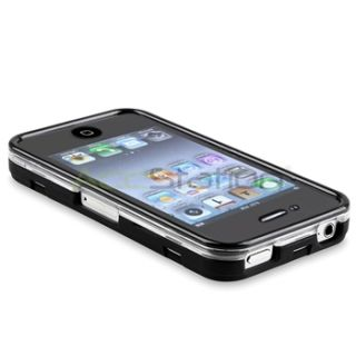 Touchable Black Hard Skin Cover Case for iPhone 4 4S 4G 4GS G 4th