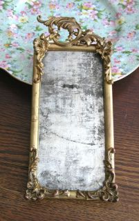 Antique Ornate Art Nouveau Victorian Brass Frame