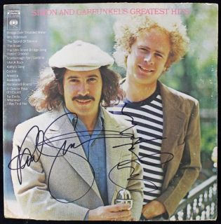 PAUL SIMON & ART GARFUNKEL SIGNED ALBUM COVER W/ VINYL REAL  ROGER