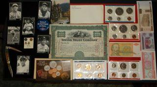 GOLD MILITARY SERVICE PINS 2 Eisenhower Mint Set coin lot Junk Drawer