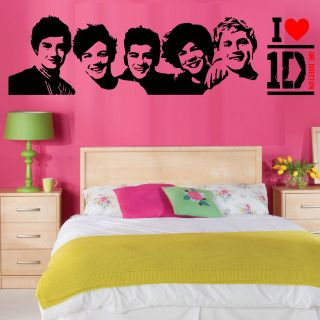 One Direction Wall Art Vinyl Room Sticker Transfer Decal 1D Fast