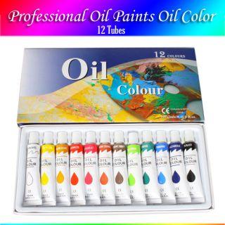 Oil Paint Oil Color Painting Pigment 12 Tubes 12ml Artist Art