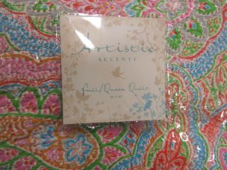 Artistic Accents Pink Green Blue Orange Paisley Queen Full Quilt Set
