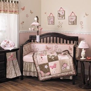 Rose 6 Piece Crib Set Baby Girl Nursery Bedding Crib Set New