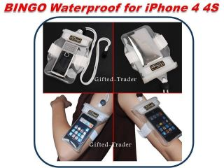 BINGO Waterproof iPhone 4 4S iPod Aqua Dry Bag Pouch Case Swim Beach
