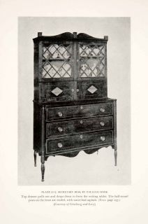 Secretary Desk Cabinet Furniture Maker William Hook Craftsman Artisan