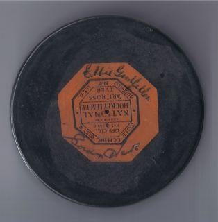 Vintage 1960s Detroit Red Wings ART ROSS NHL Hockey Puck Gordie Howe