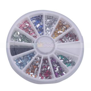 1800x2mm Nail Art Rhinestone Rectangle Shapes Glitters Tips Manicure