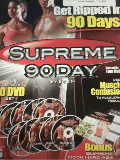 90 DAY SYSTEM HD 10 DVD SET INSANE ABS WORKOUT FITNESS AS SEEN ON TV