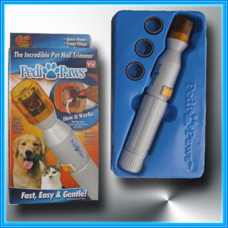 Pedi Paws Painless Pet Nail Trimmer Dogs Cats as Seen on TV