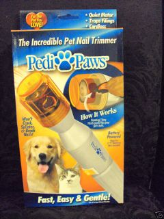 New Pedi Paws Dog Cat Nail Trimmer as Seen on TV