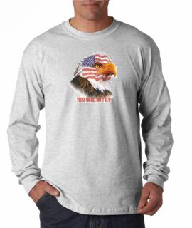 USA American Flag Eagle Colors Long Sleeve Tee Shirt