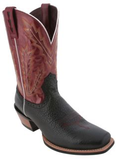 Ariat Black Leather Adriano Moraes Bull Rider 10006835 Western Boots