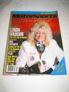 MotorSports Illustrated March 1990 Linda Vaughn Arie Luyendyk