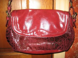 Ashburn Collection Purse Red Animal Print Soft Red Hot