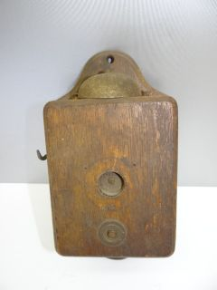 Antique Old Broken Wood Wooden Oak Unusual Small House Intercom Phone