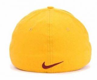 arizona state sun devils new yellow swoosh flex fitted hat cap m l