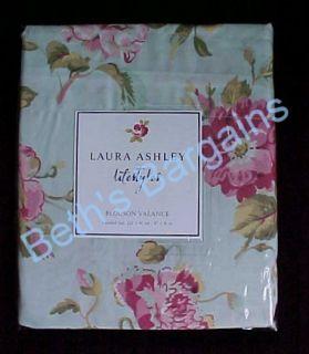 Laura Ashley Green Applemint Fabric Curtain Valance