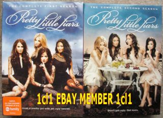 Pretty Little Liars Complete First Second Season Free SHIP 11 DVD Set