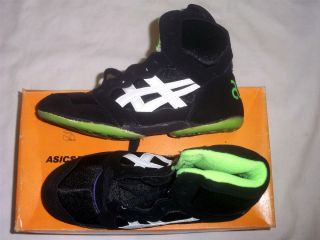 Asics Split Second II RARE Wrestling Shoes NIB Black White Size 5
