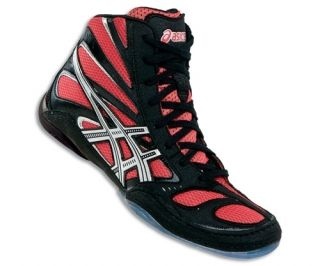 Asics Split Second 8 Wrestling Shoe Black Red Silver J001Y 2190