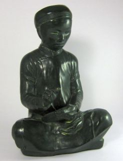Vintage Austin Prod 1961 Asian Statue Figurine Scholar Chinese