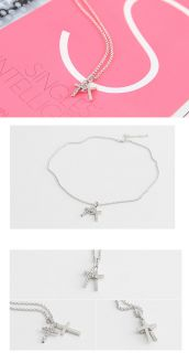 Korea Star Accessories Super Junior Eunhyuk Double Cross Necklace