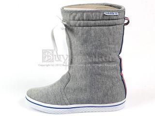 Adidas Honey Boot w Medium Grey White Blue High Classic Originals 2012