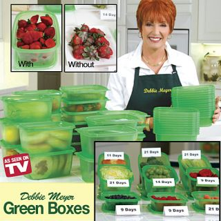 As Seen on TV Debbie Meyer Green Boxes Food Storage Containers