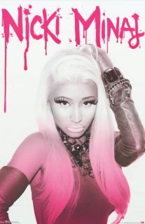 Nicki Minaj Fuscia Femme Fatale Portrait 22x34 Poster