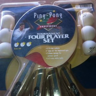 Ping Pong Table Tennis Paddle Set by Ping Pong 4 Paddles