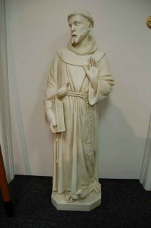 Traditional Statue of St Francis of Assisi 37 Tall