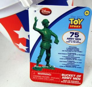 Toy Story Bucket O Soldiers Green Army Men 75pc Injured Soldier