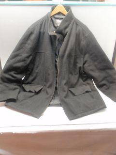 Used Black Men's Wool Woodlake Size Large Dress Up Formal Peacoat