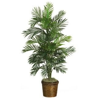 Nearly Natural 56 Areca Palm Silk Tree w Basket Tropical Plant Decor