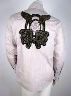 English Laundry Embroidered Velvet Lion Crest Shirt XL RARE Last One