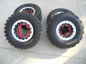 OMF Beadlock Wheels and Tires for Honda 700XX Suzuki Kawasaki 4x144