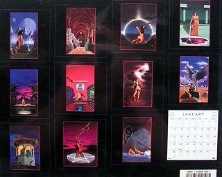 1992 Isaac Asimov Art of Blanchard Calendar Mint SEALED