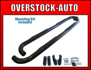 Aries 3in Black Stealth Round Nerf Bars 1999 2012 Ford F250 350 Sup