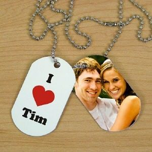 SWEETHEART I LOVE YOU PERSONALIZED PHOTO DOG TAGS